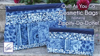 Quilt As You Go Cosmetic Bags featuring Zippity-Do-Done