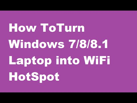 how to create hotspot on laptop windows 8.1