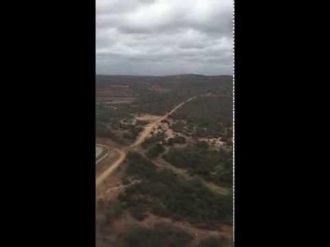 Landing in Swaziland on SA Airlinkg Erj135