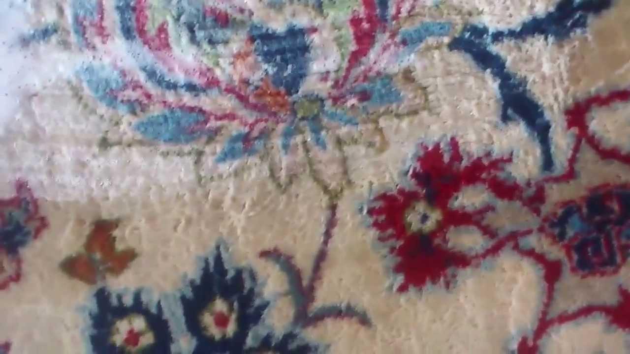 Limpiar alfombras lavado alfombra antigua isfahan lavado for Restauracion alfombras persas
