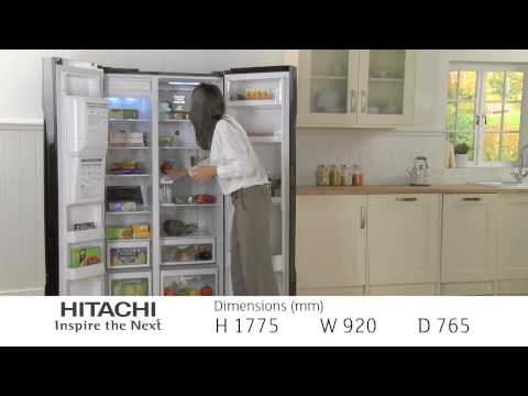 Hitachi Side by Side Refrigerator R-S700GPRU2BLK
