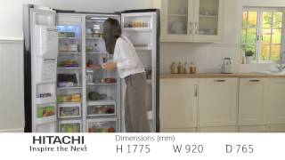 Hitachi Side by Side Refrigerator R-S700GPRU2BLK