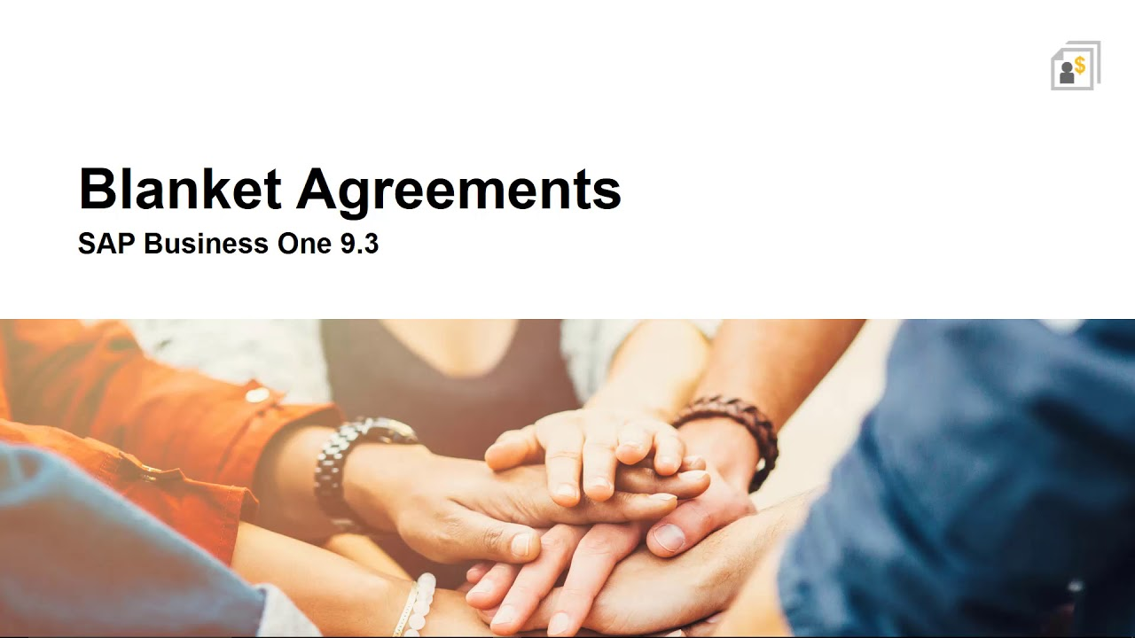 SAP Business One 9.3 - Blanket Agreements - YouTube