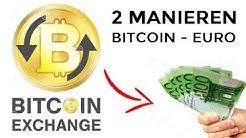 BITCOIN OMWISSELEN OF VERKOPEN VOOR EURO OF DOLLARS - 2 MANIEREN