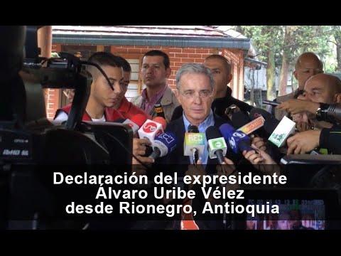 Declaración del expresidente Álvaro Uribe Vélez desde Rionegro, Antioquia 6 de Marzo de 2016