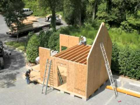 Sips home build time lapse youtube for Building a house with sip panels