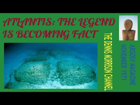 ATLANTIS: THE LEGEND BECOMING FACT - ARGOSY MAGAZINE NOVEMBER 1971