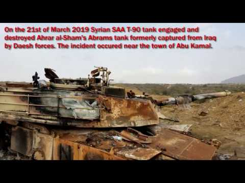 Abrams destroyed by T-90 in Syria [FOOTAGE]