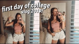 my first day of college EVER vlog! 2019