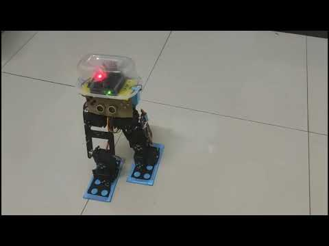 Arduino Biped Robot (Humanoid Robot) With Ultrasonic Sensor