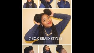HOW TO: 7 ways to style Box/ Janet Jackson/ Poetic Justice braids