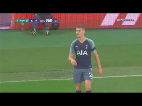 Juan Foyth vs West Ham (Carabao Cup 2018)