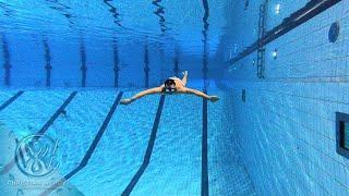 Just a guy swimming 75 meters underwater in the pool
