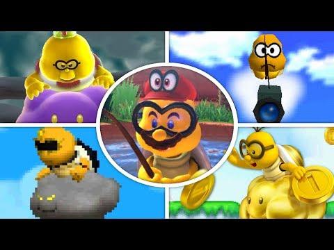 Evolution of Lakitus in Mario Games (1985 - 2018)