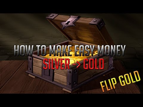 Albion Online | How to make very easy money | How to flip gold market
