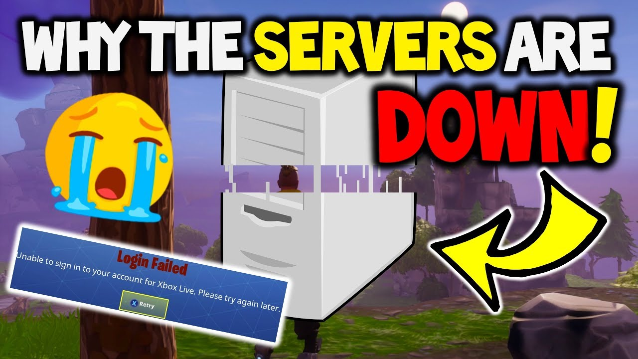 FORTNITE SERVERS ARE DOWN! WHY?! - Sever Status / Details ...