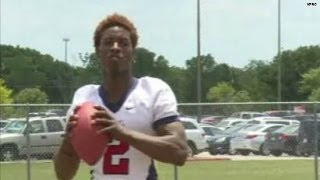 Watch: Teen throws Hail Mary to himself!!