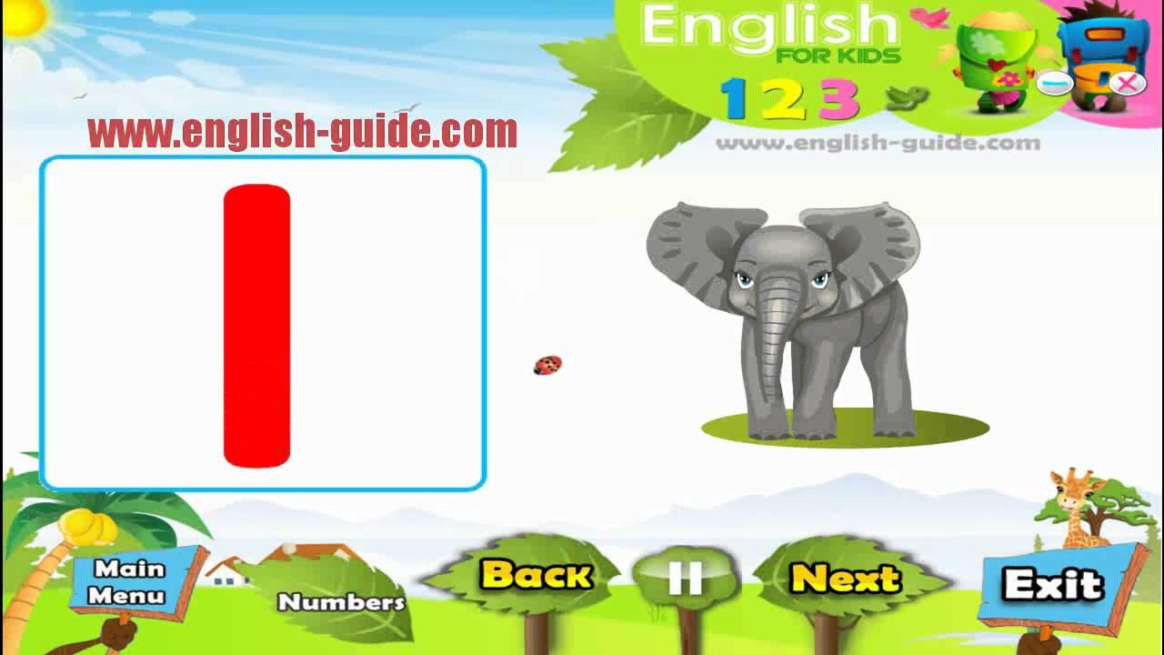 تعليم الاطفال الانجليزية - تعليم الارقام 123 - YouTube