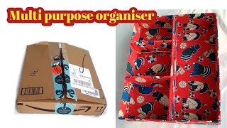 DIY#Multi purpose organiser for wardrobe from waste cardboard box#Best cardboard box reuse idea#