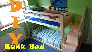 Following the design and construction of my boys Bunk Bed. Total cost for the bed came in under £80 but please note I spent a