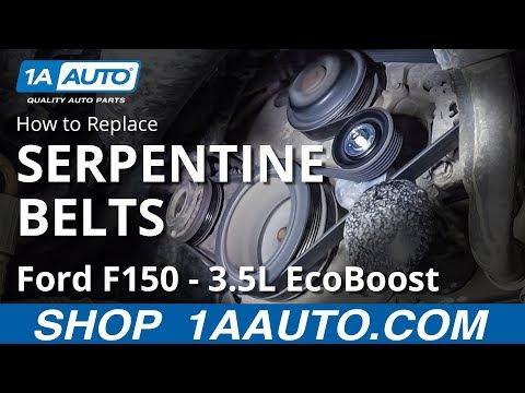 How to Replace Serpentine Belts 09-14 Ford F150