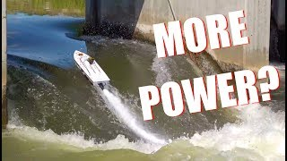 IS there MORE POWER?! Thrasher V3 TACKLES the DAM - Jet Boat Bashing! | RC ADVENTURES
