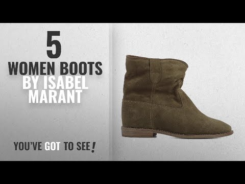 Top 10 Isabel Marant Women Boots [2018]: Isabel Marant Women's B0010300m103s50bw Brown Suede Ankle