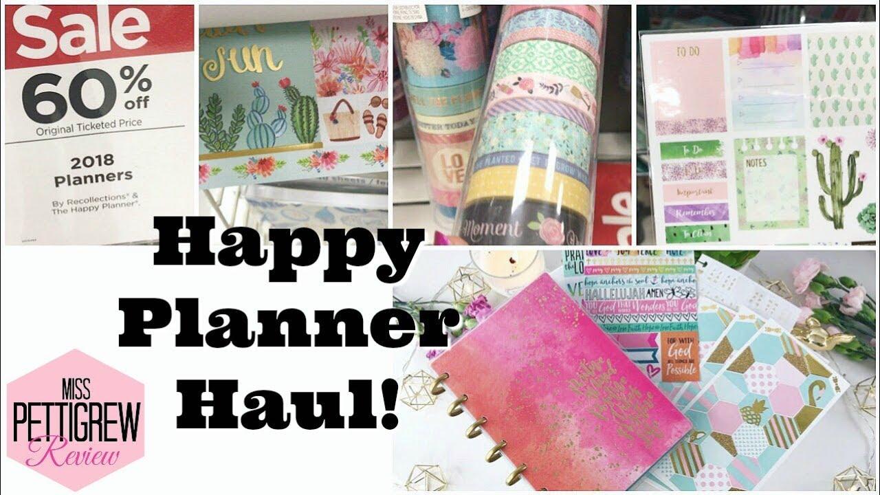 HAPPY PLANNER: Michaels Shop With Me Happy Planner Mini haul!