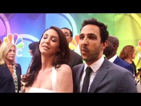 The Blacklist: Mozhan Marnò & Amir Arison 2015 NBC Upfronts Red Carpet s