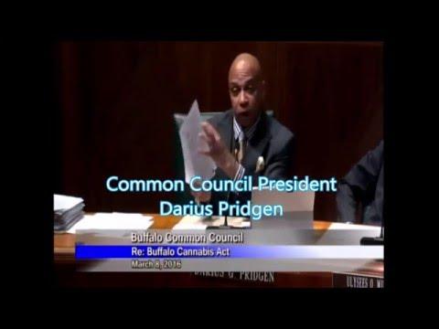 Buffalo Council President Darius Pridgen comments on the Buffalo Cannabis Act
