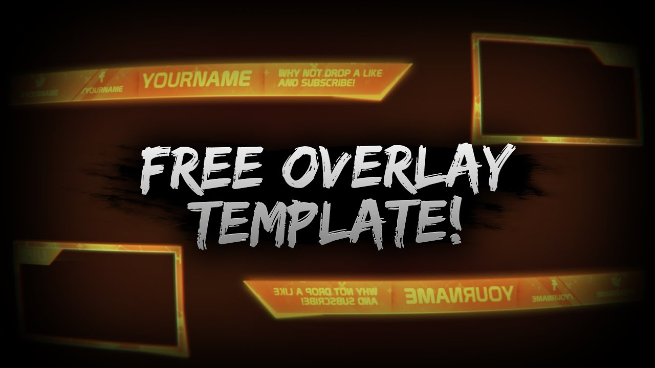 Cool Orange Free Overlay Template PSD - Free Download - YouTube