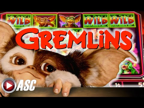 *NEW* GREMLINS - WMS - MYSTERY FEATURES! Slot Machine Bonus - 동영상