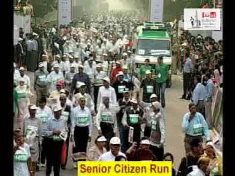 Airtel Delhi Half Marathon'09: Senior Citizen Run