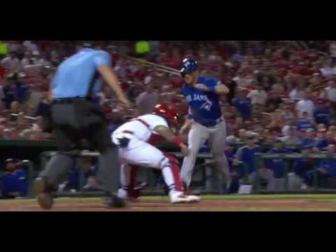 Coghlan Makes an Incredible Leaping Slide over Molina - MLB Blue Jays/Cardinals April 25/2017
