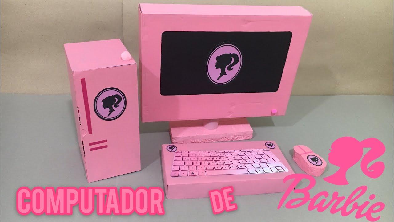 Download Computador de barbie hecha de cartón