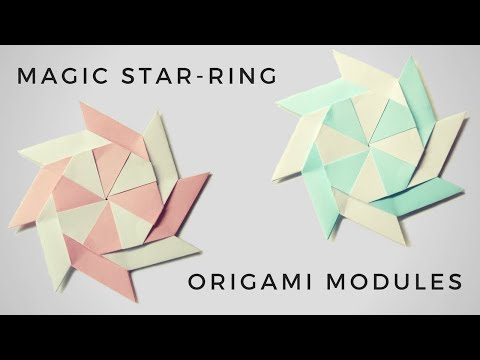 How To Make a Magic star-ring origami modules - Tutorial - Craft for Kids - Origami Ninja Star