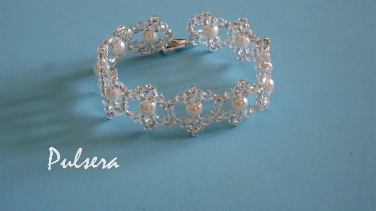 8ca49898f65b DIY - Pulsera de cristales y perlas DIY - Crystal and pearl bracelet