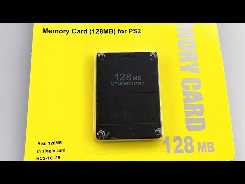 Карта памяти на 128 MB для PS2 с Китая. Проверка в играх на сохранение.
