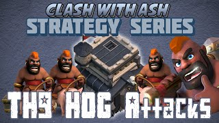 Clash Of Clans | Where To Attack From Using Hogs at Th9 (GoHoWi Opposite Archer Queen)