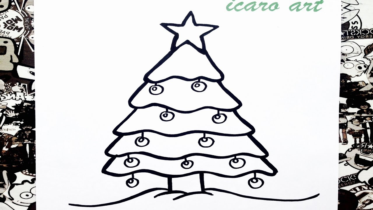 como dibujar un rbol de navidad how to draw a christmas