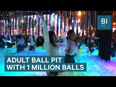 London's first ball pit bar opened a new venue that's 8 times bigger with 1 million balls
