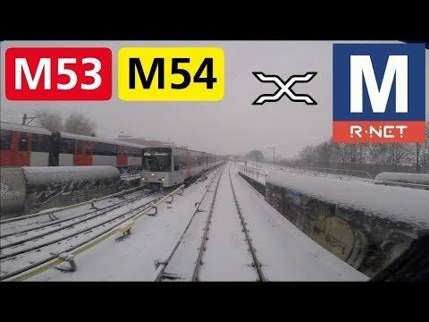 🚇 GVB R-net Amsterdam Metrolijn 53 en 54 Cabinerit Gein - Centraal Station - Gaasperplas in sneeuw
