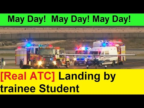 ATC recording: Student pilot lands plane after instructor passes out