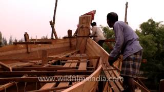 Carpenters Creating Passenger Boat In West Bengal