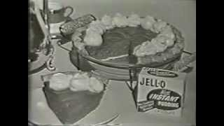 Vintage 1957 Johnny Carson Jello Commercial - Jello Ice Cream Pie