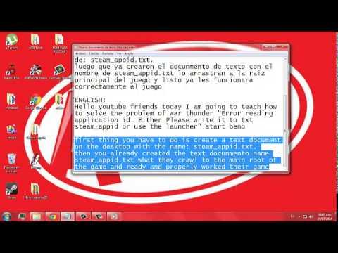 war thunder error reading application id что делать