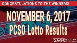 PCSO Lotto Results Today November 6, 2017 (6/55, 6/45, 4D, Swertres & EZ2)