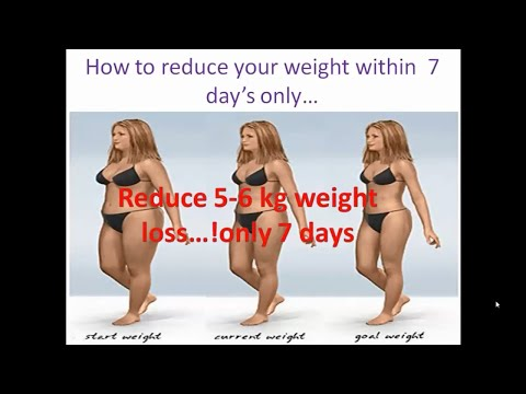 How to weight loss fast at home #7kg in 7 days#some easy ways and healthy figure