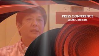 Sen. Bongbong Marcos - Press Conference at South Cotabato