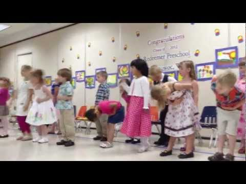 4 & 5 year Old Preschool Graduation 2012: Graduation for the MWF 4-5 year old graduation
